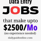 10 Data Entry Jobs That Make Upto $2500 Per Month