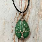 Tree of Life Silver Teardrop Necklace