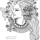 Adult Coloring Pages - Asia and Egypt