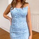 Blue Lace Prom Dresses