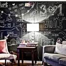 Framed Chalkboard Walls