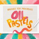 Oil Pastel brushes for Procreate app / Digital Art Brushes / Procreate brush set / Ipad + apple pencil / Procreate brushes