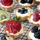 Mini Fruit Tarts with Vanilla Pastry Cream and the BEST Shortbread Crusts