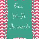 Wifi Password Printable
