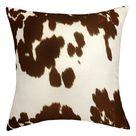 Mainstays Faux Cow Hide Decorative Throw Pillow, 18