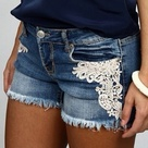 Lace Jean Shorts