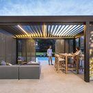 RENSON CARMARGUE Lamellendach   Lamellen Terrassenüberdachung im Garten