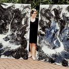 Große schwarz weiß Bilder