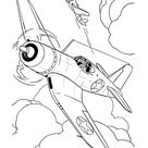 Airplane Jet Coloring Page