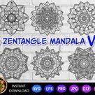 6 of Zentangle Mandala Set-1 svg eps png jpg pdf dxf   Etsy