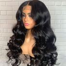 Shining! Rihanna Style Loose Wave Lace Frontal Wig - 18 inches / HD LACE