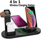 Wireless Charger Stand for IPhone Apple Watch Airpods,4 In 1 Wireless Charging Dock Station Qi Fast Charging Pad for iWatch 6 5 4 3 for IPhone 12 11