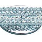 Contemporary Crystal LED Bath Vanity in Polished Chrome from the Meteor LED Collection by Maxim 32504BCPC
