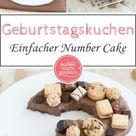 Einfacher Zahlen-Kuchen zum Geburtstag