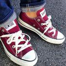 Maroon Converse