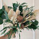 Eucalyptus Boho Wedding Bouquet,Greenery  bouquet,Wild bouquet,White and Green Bridal Bouquet,Green