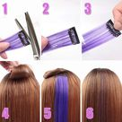 20 Colored Clip in Hair Extensions,Color Party Straight Hair Extensions for Women,Multi-Colors Party Highlights Clip in Hairpiece