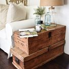 Living Room Makeover – Stacked Trunk End Table