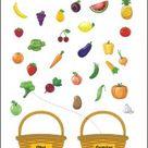 Obst und Gemüse - Übungen zum Ausdrucken für die Vorschule