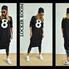 Black Dress, Winter Dress,Oversize Black Loose Casual Top, Kaftan Maxi Dress, Maxi dress With Sleeves