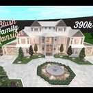 Roblox-Bloxburg | Blush Family Mansion | Speed Build | 390k