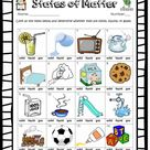 States of matter interactive exercise