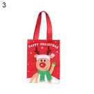 Christmas Snowman Santa Claus Reindeer Candy Bag Handbag Party Decor Gift Pouch - as the picture n
