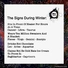 The Signs During Winter