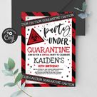 Editable Quarantine Birthday Party Invitation Virtual Birthday Party Zoom Party Hangout Party Quarantine No One Invited Party Instant QP