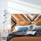 Cabecero de madera Whale Diver - Wooden Headboard, Tête de lit, Reclaimed Wood Wall Art, Tête de lit bois, Geometric Wall Art, Wood Art