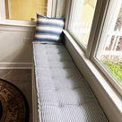 Custom Farmhouse Tufted Bench Cushion Indoor French Mattress