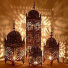 Orientalische Laterne Eisen Orientlampe Windlicht Eisenlaterne Marokko