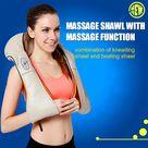 U Shape Massager Electrical Shiatsu Back Shoulder Neck Massager Multifunctional Shawl Infrared Heated Kneading Car/Home Massage