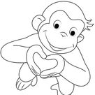 Free & Easy To Print Curious George Coloring Pages