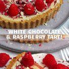 White Chocolate Raspberry Tart!