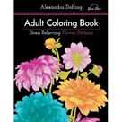 Adult Coloring Book: Stress Relieving Flower Patterns - Walmart.com