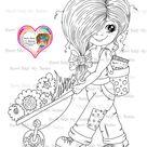 INSTANT DOWNLOAD Digital Digi Stamps Big Eye Big Head Dolls Digi My - Lil Kricket Besties Doll -17  By Sherri Baldy
