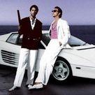 Miami Vice White Ferrari Testarossa Fashion Icon
