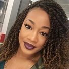 5 Packs Bomb Twist Crochet Hair Spring Twist Hair 14 Inch Prelooped Crochet Braids Mini Twist Passion Twist Hair Senegalese Synthetic Ombre Color Hair Extensions for WomenT1B 27