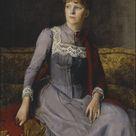 Mina Carlson-Bredberg, 1887 - Mrs. Anna Flensburg - fine art print - Canvas print / 100x150cm - 39x59