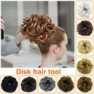 Real Natural Curly Messy Bun Hair Piece Scrunchie Hair Extensions as Human DNHOC