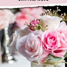 5 Simple But Elegant Pink Flower Centerpieces (That Are Low Enough To See Over) - Entertaining Diva