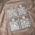 QR Code sign - 4 Codes with Base