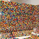NPIRE Uses 55,000 LEGOs To Create a Funky Pixelated Wall