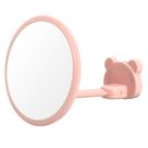 360 Rotation Suction Cup Fogless Shower Shaving Shave Bathroom Mirrors - Pink