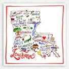 Louisiana Map Kitchen Towel
