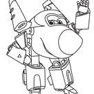 Super Wings Transforming Coloring Pages - Coloring Pages