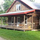 Rustic Log Cabin Rental in Adirondack Park near Lake Ontario