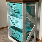 Rustic Farmhouse Style Laundry Hamper/basket Organizer Laundry | Etsy