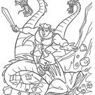 Hercules and dragon coloring pages for kids, printable free